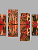 Unframed Холст печати Пейзаж Modern,4 панели Холст Любая форма Печать Искусство Декор стены For Украшение дома