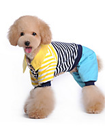 Dog Clothes/Jumpsuit Blue / Pink Dog Clothes Winter / Spring/Fall Stripe Cute / Casual/Daily /