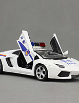 Action Figure / Play Vehicles Model & Building Toy Car Metal White For Boys Above 3