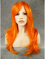 IMSTYLE22'Stunning Orange Long Straight Synthetic No Lace Wigs