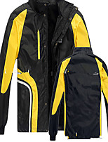 Hiking Softshell Jacket Men's Waterproof / Breathable / Thermal / Warm / Windproof / Wearable Winter Terylene Black