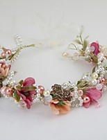 Women's Imitation Pearl / Fabric Headpiece-Wedding / Special Occasion / Casual / Outdoor Wreaths 1 Piece