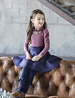 Girl's Casual/Daily Solid LeggingsCotton Winter Black / Blue / Beige