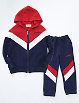 Boy's Casual/Daily Striped Hoodie & Sweatshirt / Clothing SetCotton Spring / Fall Blue