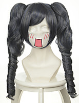 Black Butler Ciel Mixed Silver Grey Black Two Ponytails Halloween Wigs Synthetic Wigs Costume Wigs