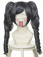 black butler ciel gemischt silbergrau schwarz zwei ponytails Halloween Perücken synthetische Perücken Kostüm Perücken