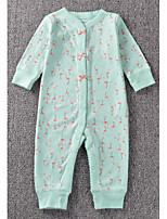 Baby Casual/Daily Print Clothing SetCotton All Seasons-Green / Pink / Red
