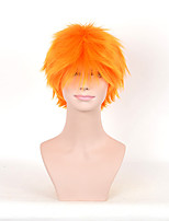 Short Synthetic Wig Yellow Color For African American Black Women