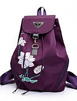 Casual Backpack Women Nylon Purple Blue Red Black