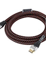 Choseal® HDMI 2.0-HDMI 2.0 1080P / Plaqué or / Haut débit / 4K / 3D Câble 4K*2K 1.8m (6Ft)