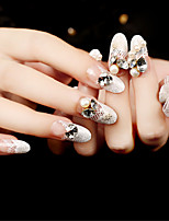 24Pcs Exquisite Diamond Shining Nails Patch 1Set
