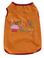 New Style Birthday Summer Clothing Birthday Boy and Girl Cake Cotton Dog Vest for Pets