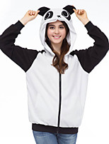 Inspirado por Fantasias Fantasias Anime Fantasias de Cosplay Hoodies cosplay Patchwork Branco Manga Comprida Top