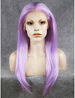 IMSTYLE 24''Cosplay Purple Long Straight Synthetic Lace Front Wig On Sale High Heat Resistant
