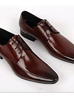 Men's Oxfords Comfort Leather Wedding Office & Career Black Brown