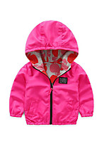 Girl's Casual/Daily Solid Jacket & CoatCotton Spring / Fall Pink