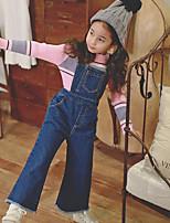 Mädchen Hose / Jeans-Lässig/Alltäglich einfarbig Baumwolle Herbst Blau
