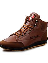 Синий / Коричневый / Красный-Мужской-На каждый день-Микроволокно-На плоской подошве-Удобная обувь-Ботинки