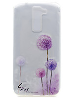 For LG K10 K8 Transparent Pattern Case Back Cover Case Dandelion Soft TPU K7 Nexus 5X X Power