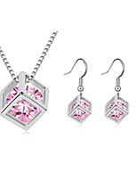 Thousands of colors  Jewelry Necklaces / Earrings Jewelry set Crystal  1set Women -9-1-1-704-2-586