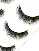 Eyelashes lash Full Strip Lashes Eyes Thick Handmade Fiber Black Band 0.07mm 12mm