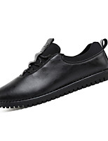 Men's Loafers & Slip-Ons Spring / Fall Comfort PU Casual Flat Heel Slip-on Black / Orange Sneaker