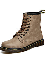 Men's Boots Fall Winter Others Leather Casual Flat Heel Lace-up Black Blue Brown Others