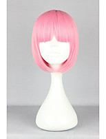 New Fashion Cool Short Bob Lovely Full Bangs Smart Pink Heat Resistant Hair High Quality Lolita Wig