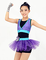 Dresses Women's / Children's Performance / Flower(s) / Sequins Ballet Sleeveless Natural Dress / Headpieces