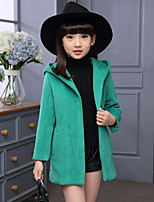 Girl's Casual/Daily Solid Suit & Blazer,Wool / Polyester Winter Green / Red