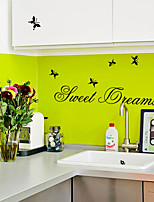 Animales / Palabras y Frases / De moda Pegatinas de pared Calcomanías de Aviones para Pared Calcomanías Decorativas de Pared,PVC Material