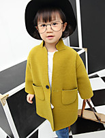 Girl's Casual/Daily Solid Down & Cotton Padded / Suit & BlazerCotton Spring / Fall Green