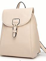 Casual Backpack Women PU White Blue Brown Black Burgundy Fuchsia