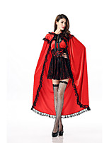 Cosplay Costumes Queen Fairytale Movie Cosplay Red Solid Dress Shawl Halloween Carnival Female Polyester