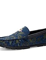 Синий Желтый Оранжевый-Мужской-Повседневный-Полиуретан-На плоской подошве-Удобная обувь-Мокасины и Свитер
