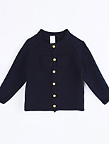 Girl Casual/Daily Solid Sweater & Cardigan,Cotton Fall