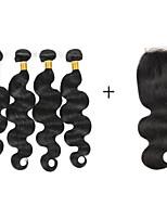 Cabelo Humano Ondulado Cabelo Brasileiro Ondulado 6 meses 5 Peças tece cabelo