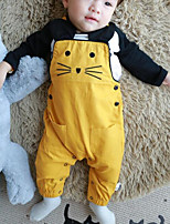 Baby Casual/Daily Animal Print Clothing Set-Cotton-Spring / Fall-Orange / Yellow