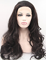 Sylvia бесклеевой синтетический парик фронта шнурка натуральный черный жаропрочные длинные естественная волна синтетические парики для