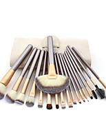18 Conjuntos de pincel Pêlo Sintético Profissional / Portátil Madeira Rosto / Olhos / Lábio Outros