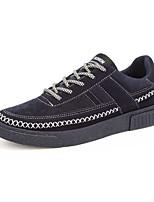 Herren-Sneaker-Sportlich Lässig-Leinwand-Flacher Absatz-Komfort-Schwarz Blau Grau