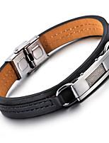kalen®2016 новый жесткий кожаный браслет моды из нержавеющей стали 316 шарма браслеты мужской моды аксессуаров подарки