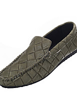 Men's Loafers & Slip-Ons Spring / Fall Comfort PU Casual Flat Heel Slip-on Black / Green / Gray Sneaker