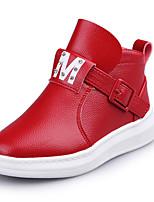 Черный Красный Серый-Для девочек-Для праздника Повседневный-Полиуретан-На плоской подошве-Теплая зимняя обувь Удобная обувь-Ботинки