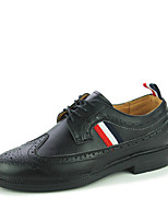 Men's Oxfords Spring / Fall / Winter Mary Jane PU Casual Flat Heel Others / Lace-up Black / Blue / White Others