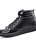 Men's Boots Fall / Winter Comfort PU Casual Flat Heel Black / Blue / Red Sneaker