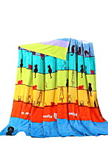 Flannel Multi-color,Solid Solid 100% Polyester Blankets 200x230cm