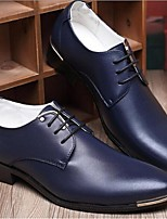Men's Oxfords Comfort PU Casual Black Blue Yellow