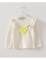 Girl's Casual/Daily Solid TeeCotton Spring / Fall Pink / Purple / White / Gray