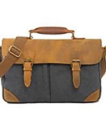 Men Canvas Casual / Office & Career Shoulder Bag Blue / Green / Brown